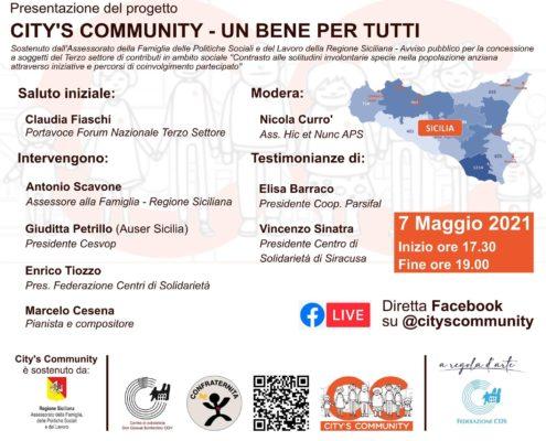 City's community incontro 7 maggio 2021